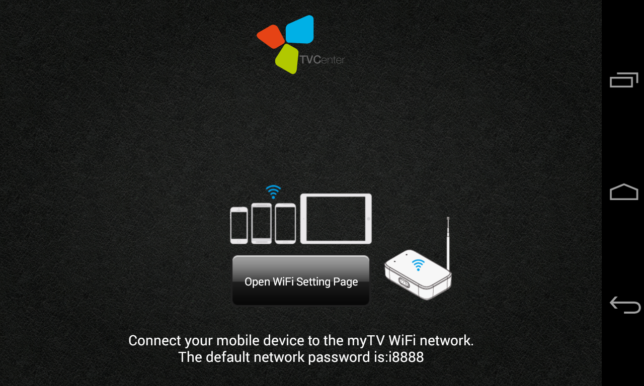 TVCenter WiFi- screenshot