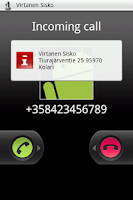 Screenshot of CallerInfo