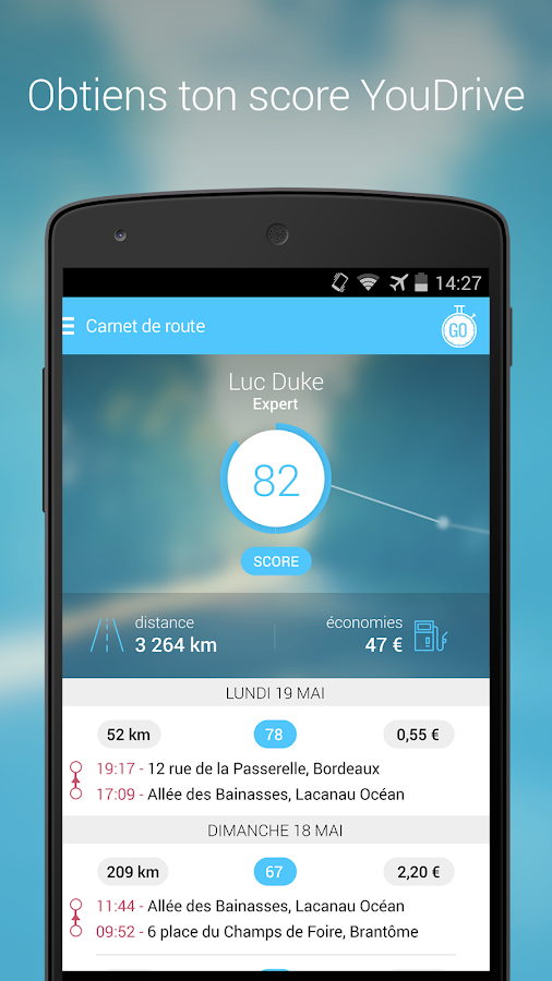 YouDriveLite- screenshot