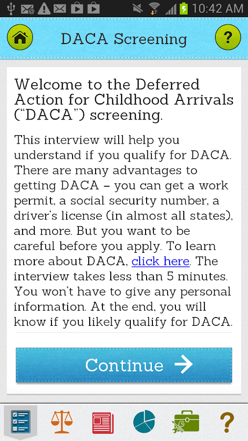Pocket DACA - screenshot