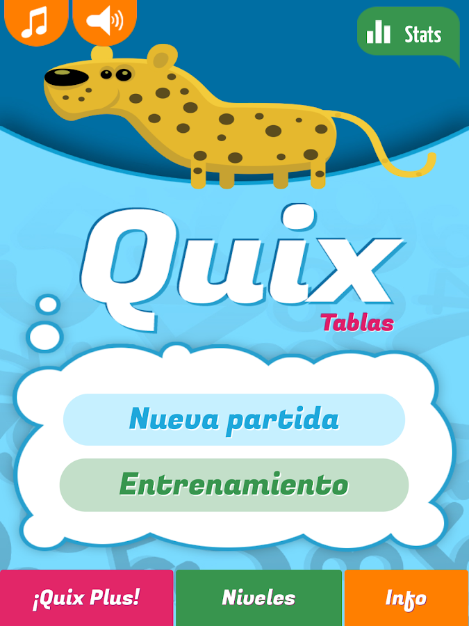Quix Tablas de multiplicar: captura de pantalla