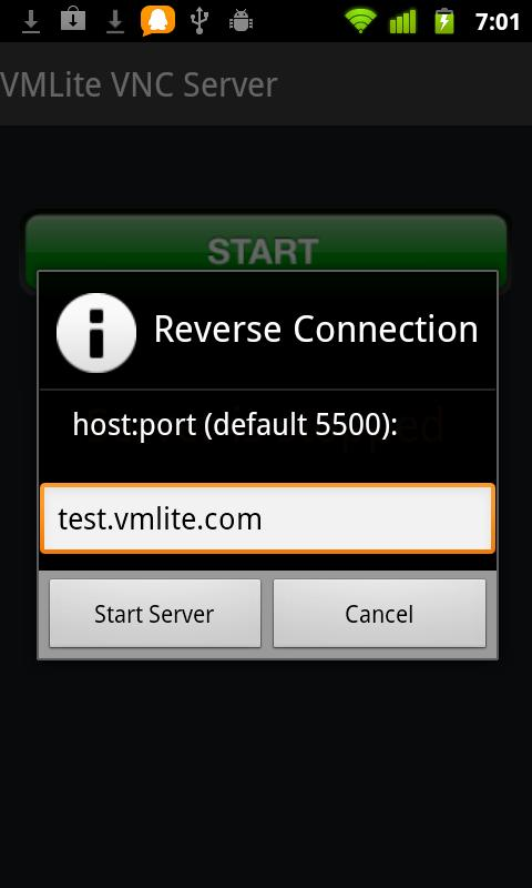VMLite VNC Server- screenshot