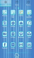 Screenshot of Blue Chill Go Launcher Ex