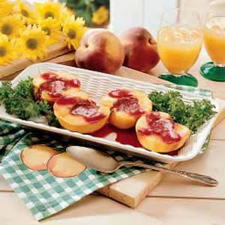 Grilled Peaches with Berry Sauce