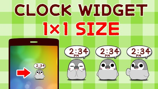 Pesoguin Clock Widget -Penguin - screenshot thumbnail