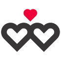 Lovers counter for couples icon