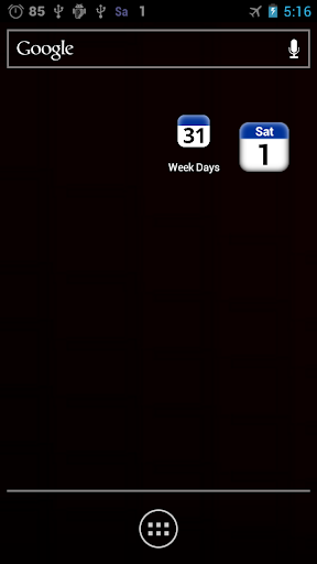 day and date widget