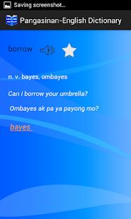 Pangasinan-English Dictionary screenshot
