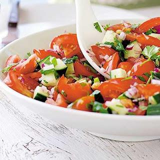 Tomato, Cucumber & Coriander Salad Recipe