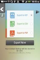 Screenshot of Contacts Backup & Export