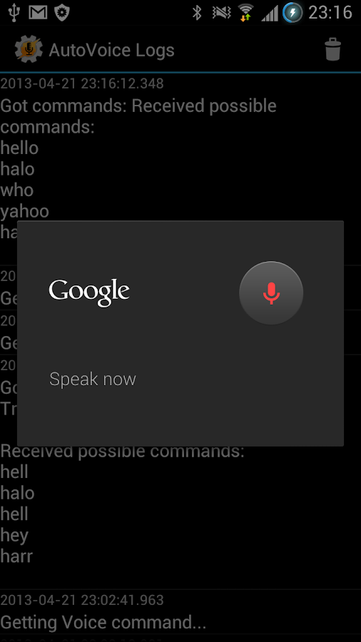 AutoVoice- screenshot