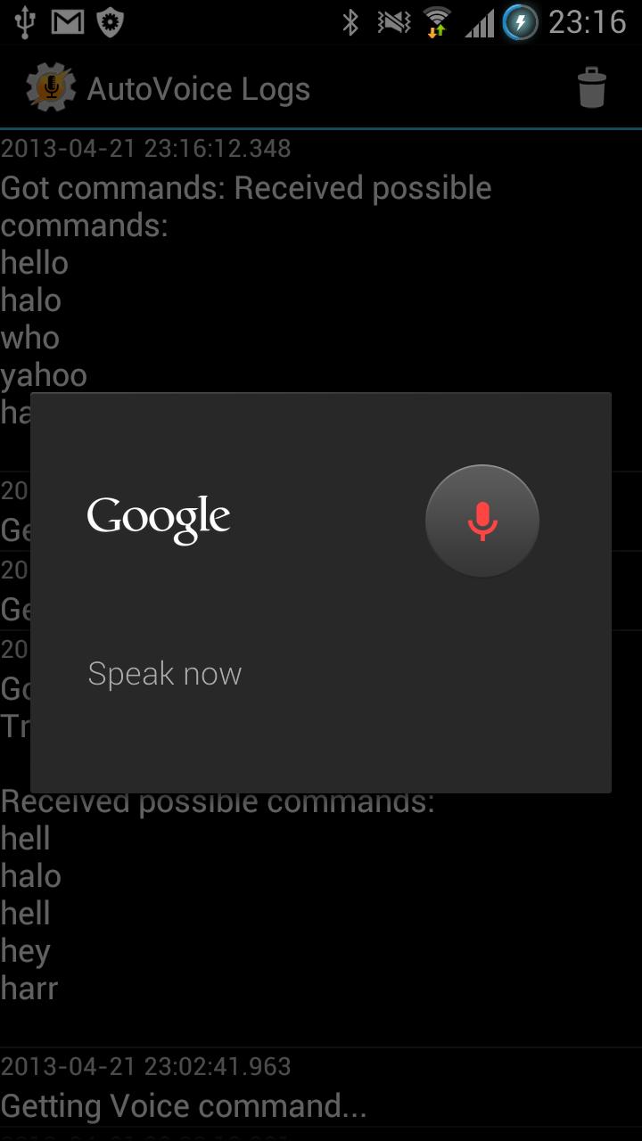 AutoVoice Screenshot