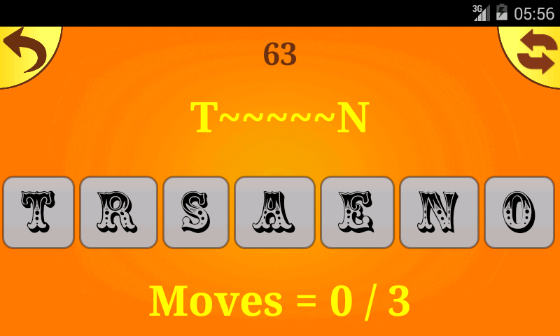 Reversals - Free word game - screenshot
