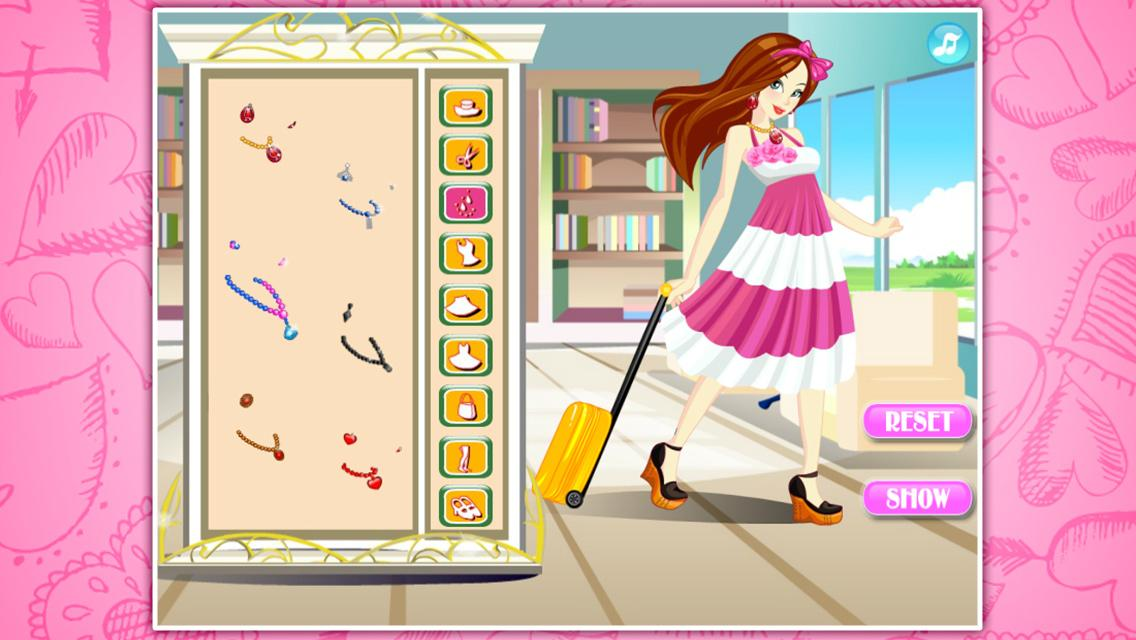 Beautiful stewardess dressup - screenshot