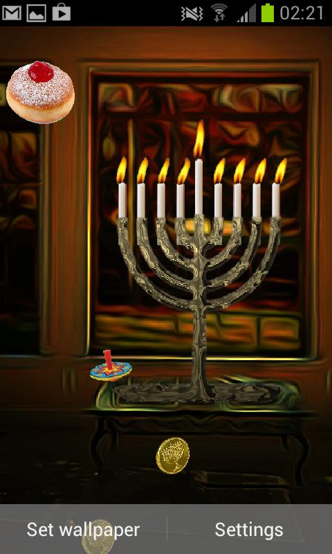Hanukkah Holiday HD Wallpaper - screenshot