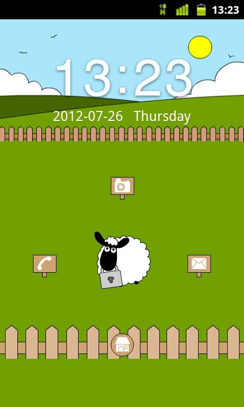 Sheep Farm Theme GO Locker - screenshot