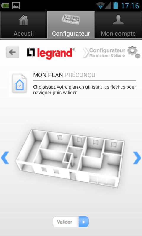 Configurateur - screenshot