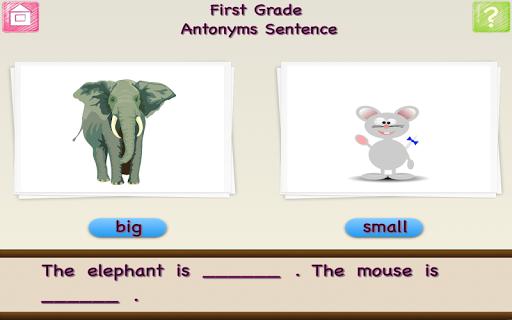 First Grade Antonyms Sentences