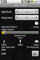 Screenshot of Exposure Calculator
