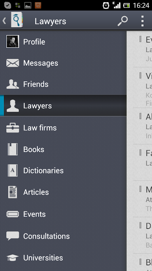 JurFinder lawyer & attorney - screenshot