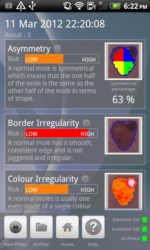 Doctor Mole - Skin cancer app - screenshot