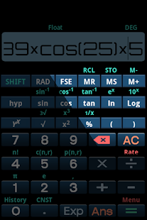how to use scientific calculator on mi5
