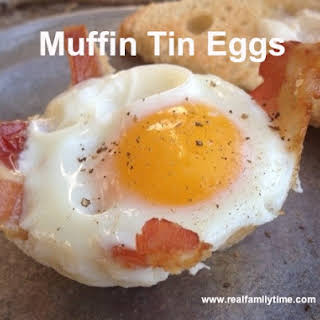 Muffin Tin Eggs.