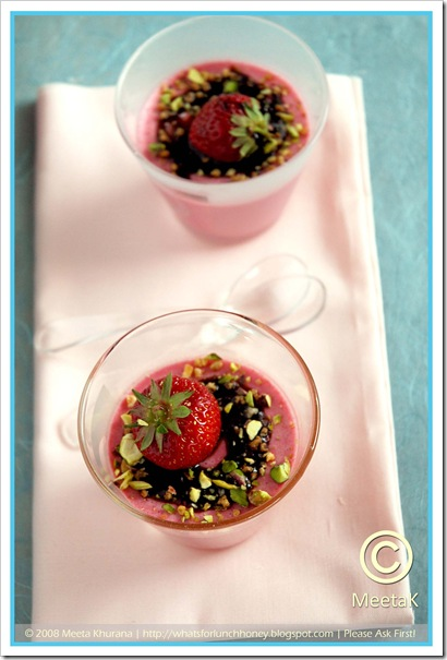 Strawberry Panna Cotta (03) by MeetaK
