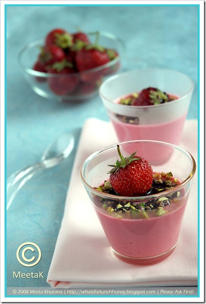 Strawberry Panna Cotta (05) by MeetaK