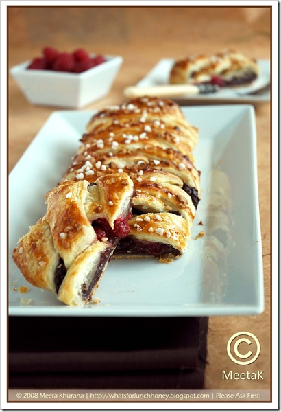 Chocolate Raspberry Danish Braid (02) by MeetaK