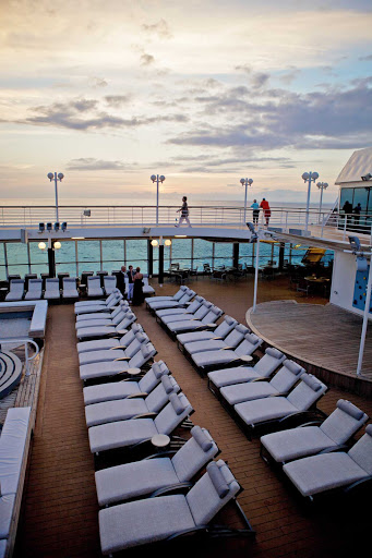 Azamara-Quest-pool-deck - Relax in the ocean breeze while lounging poolside on your Azamara Quest cruise.