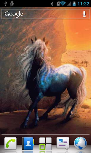 Horse with a Long Mane a live