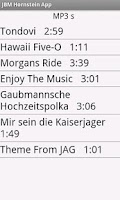 Screenshot of JBM Hornstein App