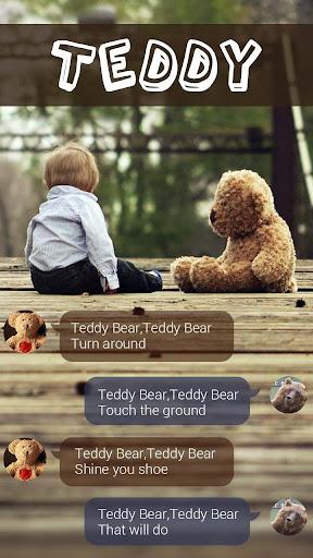 FREE GO SMS PRO TEDDY THEME