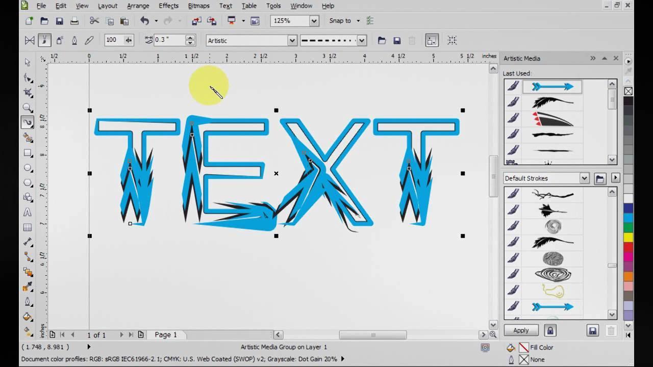 Poster design using coreldraw 12 - Poster Design Using Coreldraw Tutorial Screenshots