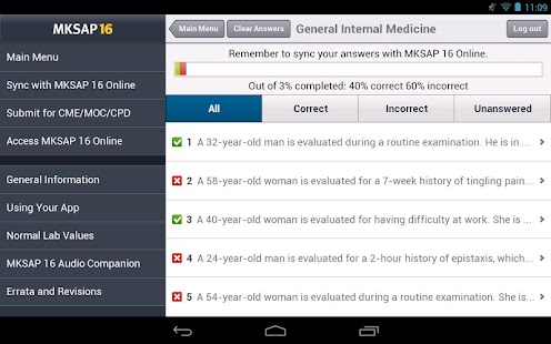 MKSAP 16 Tablet Edition - screenshot thumbnail