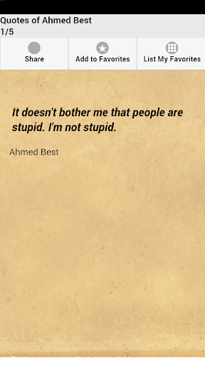 Quotes of Ahmed Best