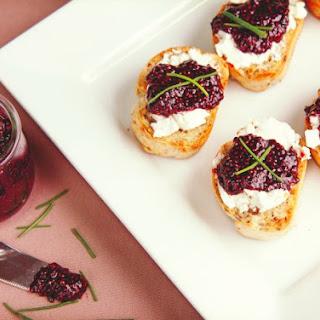 Açai-Chia Jam & Goat Cheese Crostini