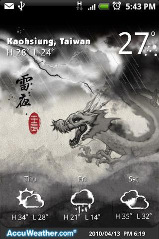 9s-Weather Theme+DragonNewYear - screenshot
