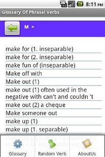 Dictionary of Phrasal Verbs- screenshot thumbnail