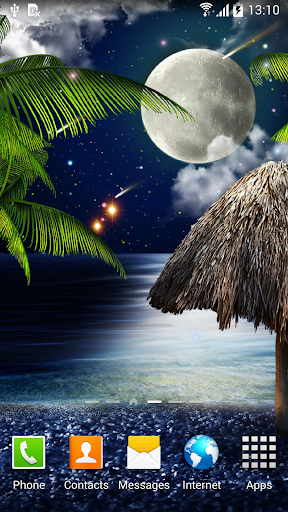 Tropical Night Live Wallpaper