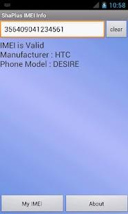 ShaPlus IMEI Info- screenshot thumbnail