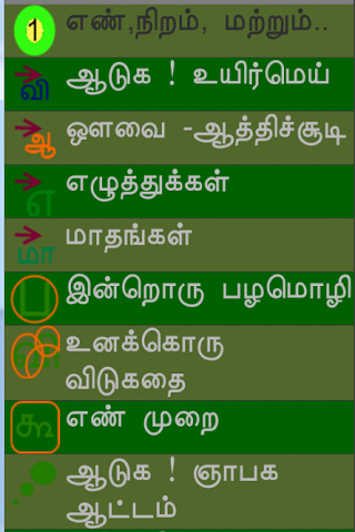 Tamil Learning for Kids - screenshot
