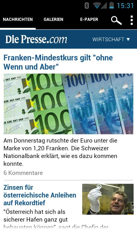 Die Presse - screenshot