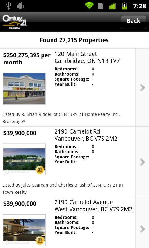 Century21.ca- screenshot