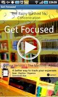 Screenshot of Get Focused! The Rainy Method