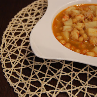 Chickpeas with Shrimp and Cuttlefish.
