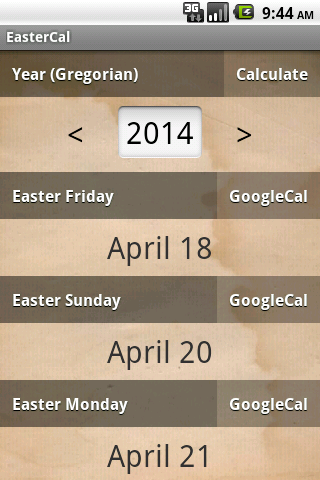 EasterCal