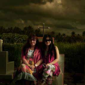 Two women's smilling pain by Pelukis Badai - People Fashion