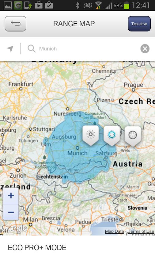 BMW i App - screenshot